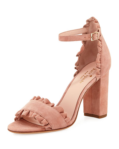 odele suede ruffle city sandal