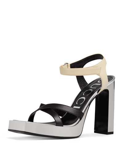 Costanze Elongated Colorblock Platform Sandal