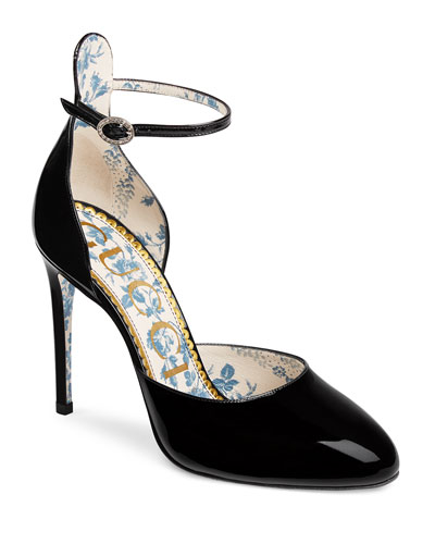 Daisy 105mm Patent Ankle-Strap d'Orsay Pump