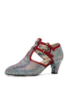 Mila 55mm Iridescent Crystal Pump