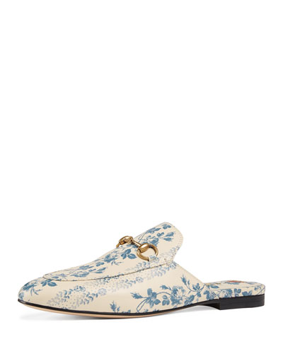 Princetown Rosebud Floral Printed Leather Mule
