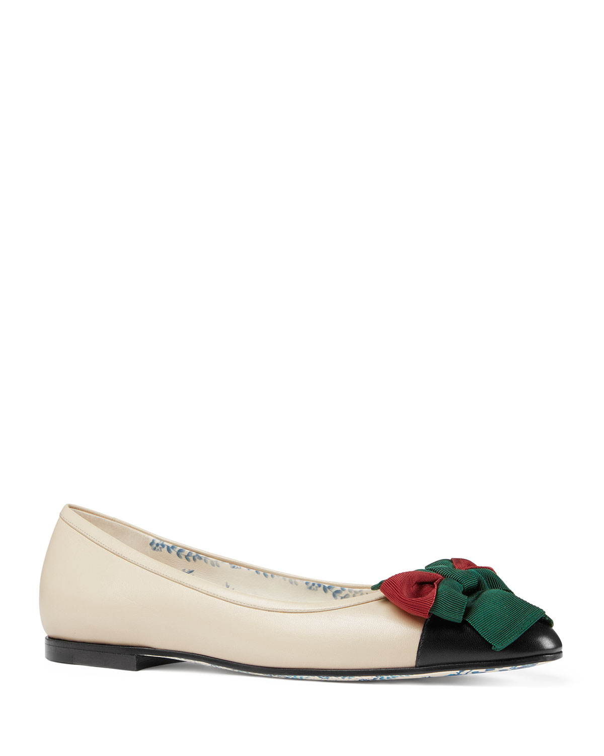 Jane Leather Ballet Flat With Bow