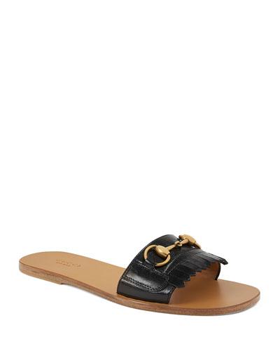 Varadero Leather Kiltie Slide Sandal with Bit