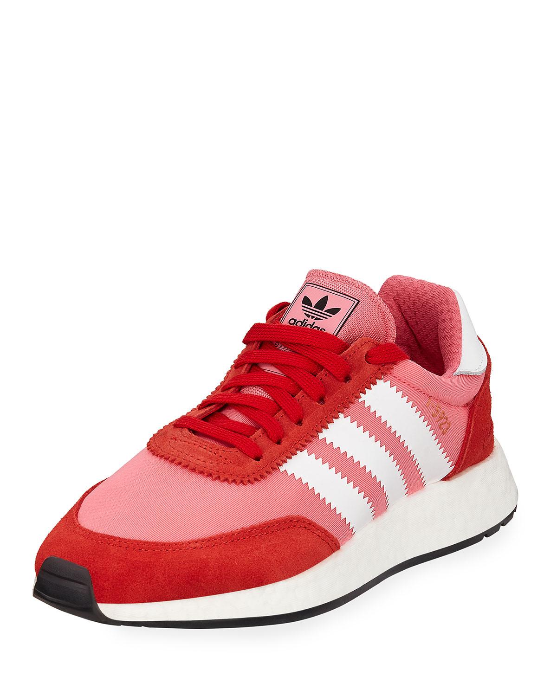 Iniki Vintage Runner Sneakers, Pink/Orange in Md. Pink