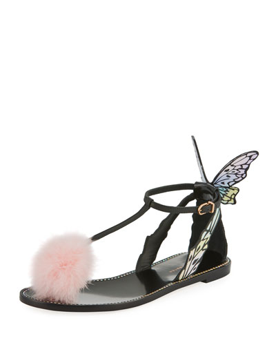 Talulah Butterfly Wing Flat Sandal