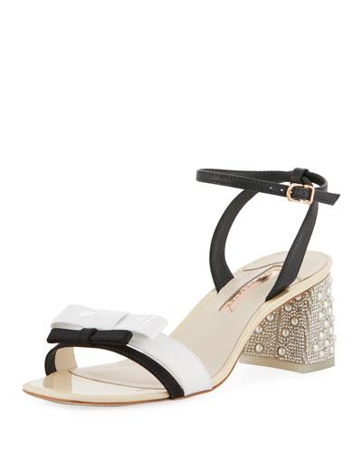 Andie Mid-Heel Ankle-Wrap Sandal