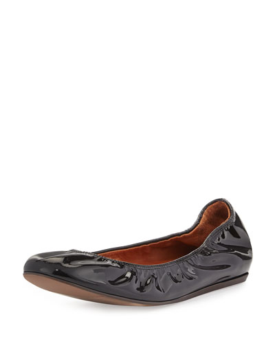 Patent Leather Ballet Flat, Black
