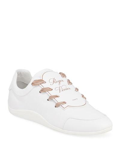 Sporty Viv Etiquette Sneaker, White in Blanc Cire