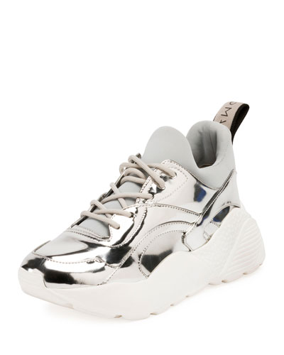 Runway Metallic Lace-Up Sneaker