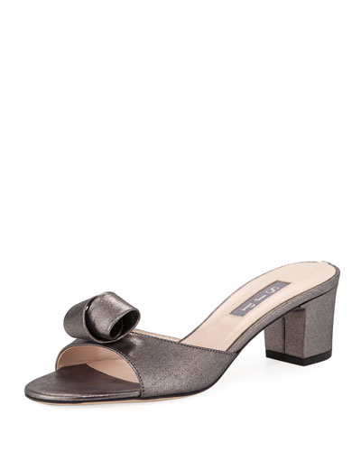Charlie Leather Slide Sandal