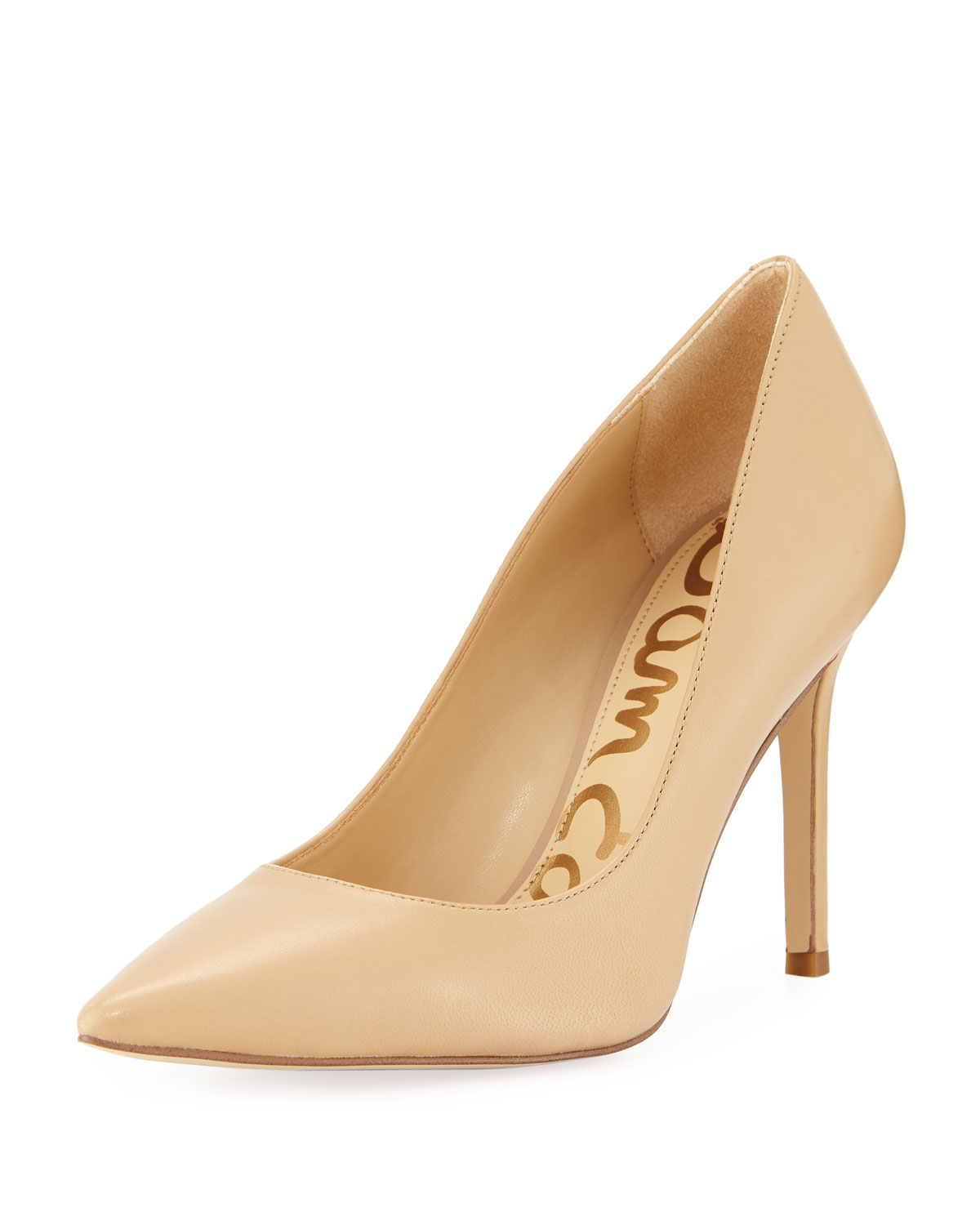 Hazel Napa Leather Pointed Pumps