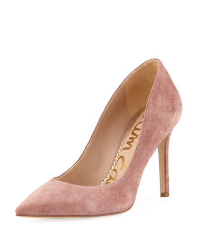 Hazel Suede Pointed Pump