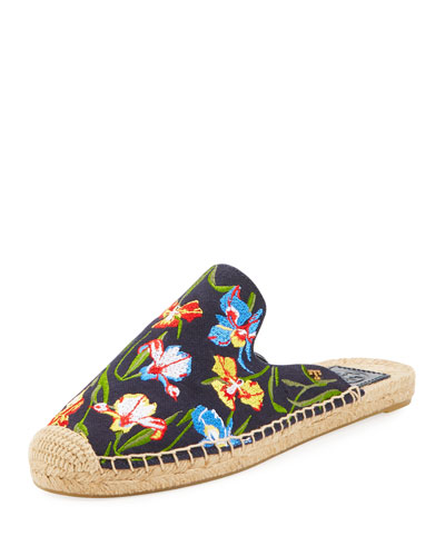 Max Embroidered Espadrille Mule
