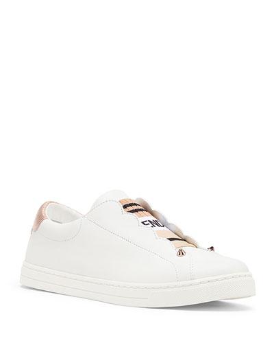 Rockoko Leather Slip-On Sneakers