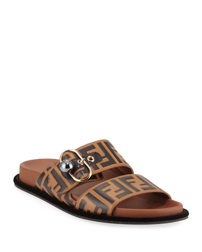 420185dc5aa21 Quick Look. Fendi · Pearland FF Leather Slide Sandal
