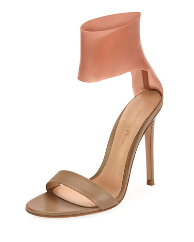 Roma Leather and Latex Two-Tone Sandal