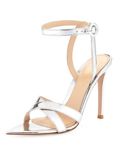 Metallic Ankle-Strap Sandal