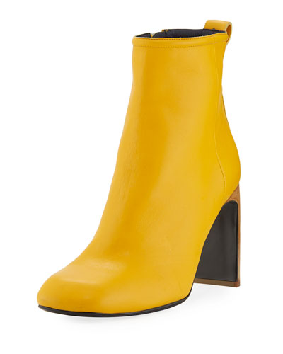 Ellis Italian Leather Boot, Citrus