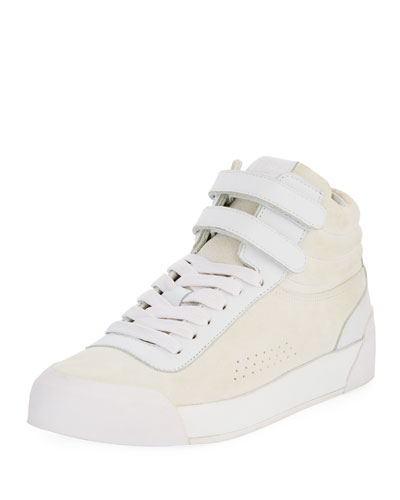Nova Mixed Leather Platform Sneaker