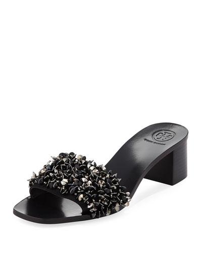 Logan Embellished Slide Sandal