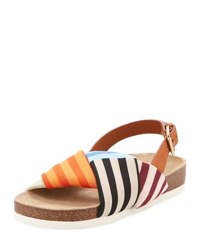 Corey Striped Platform Sandal