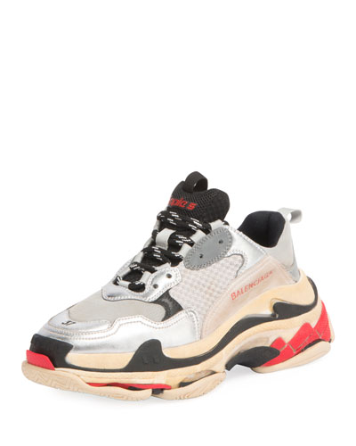 Triple Multicolor Platform Sneaker