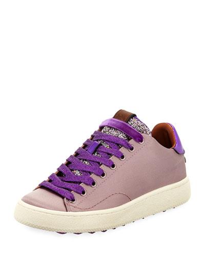 Satin Glitter Platform Sneaker