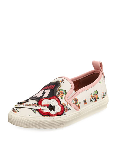 Route 41 Floral Embellished Sneaker