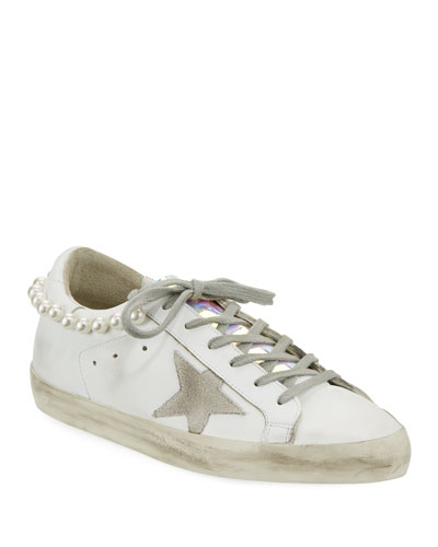 Superstar Sneaker in Pearl White Necklace