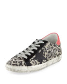 Superstar Metallic Leopard Low-Top Sneaker