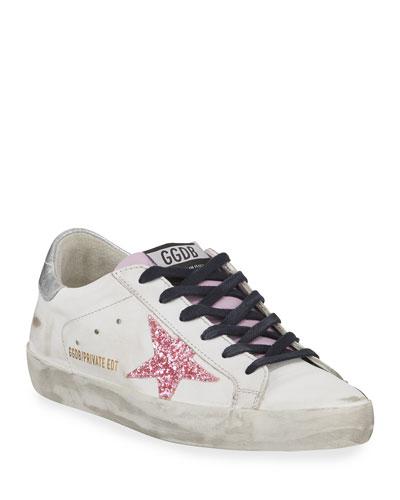 Superstar Glitter Platform Sneaker