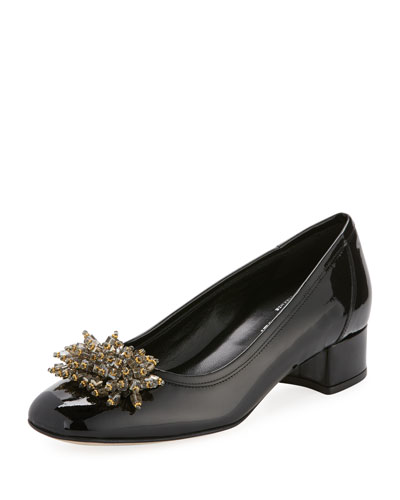 Henda Ornament Patent Pump, Black