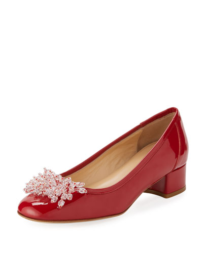 Henda Ornament Patent Pump, Red
