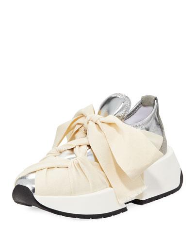 Metallic Ribbon Sneaker