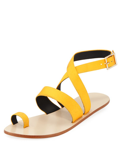 Hallie Satin Ankle-Wrap Sandal