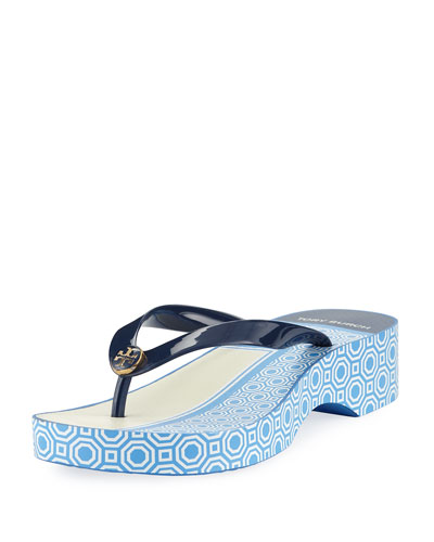 Cutout Wedge Flip Flop