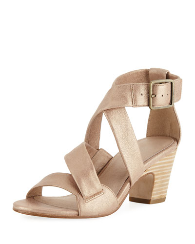 Patsy Metallic Suede Sandal