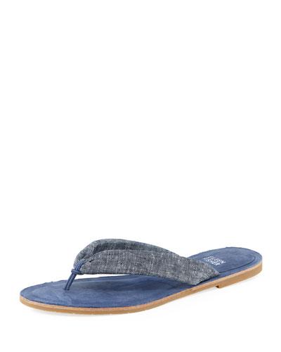 Flue Flat Chambray Thong Sandal