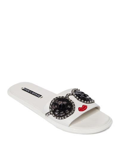 Tasha Stace Face Pool Sandal