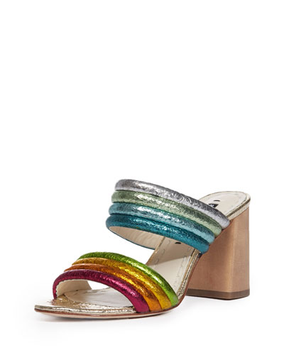 Lori Metallic Rainbow Slide Sandal