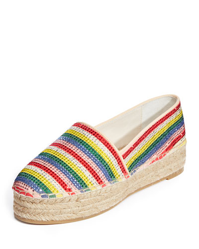 Dalyn Crystal-Striped  Espadrille Flat