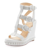 Rocknbuckle Platform Wedge Red Sole Sandal