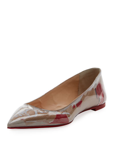 Ballalla Paper Collage Red Sole Ballet Flats