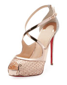 Mirabella 120mm Strappy Sequined Red Sole Sandal
