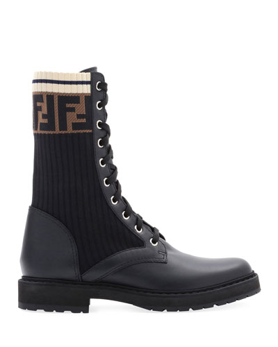 089f6143a37 Quick Look. Fendi · Leather Combat Boot ...