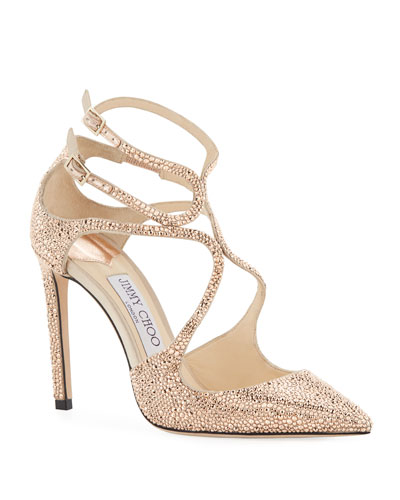 Lancer 100mm Crystal Satin Pumps