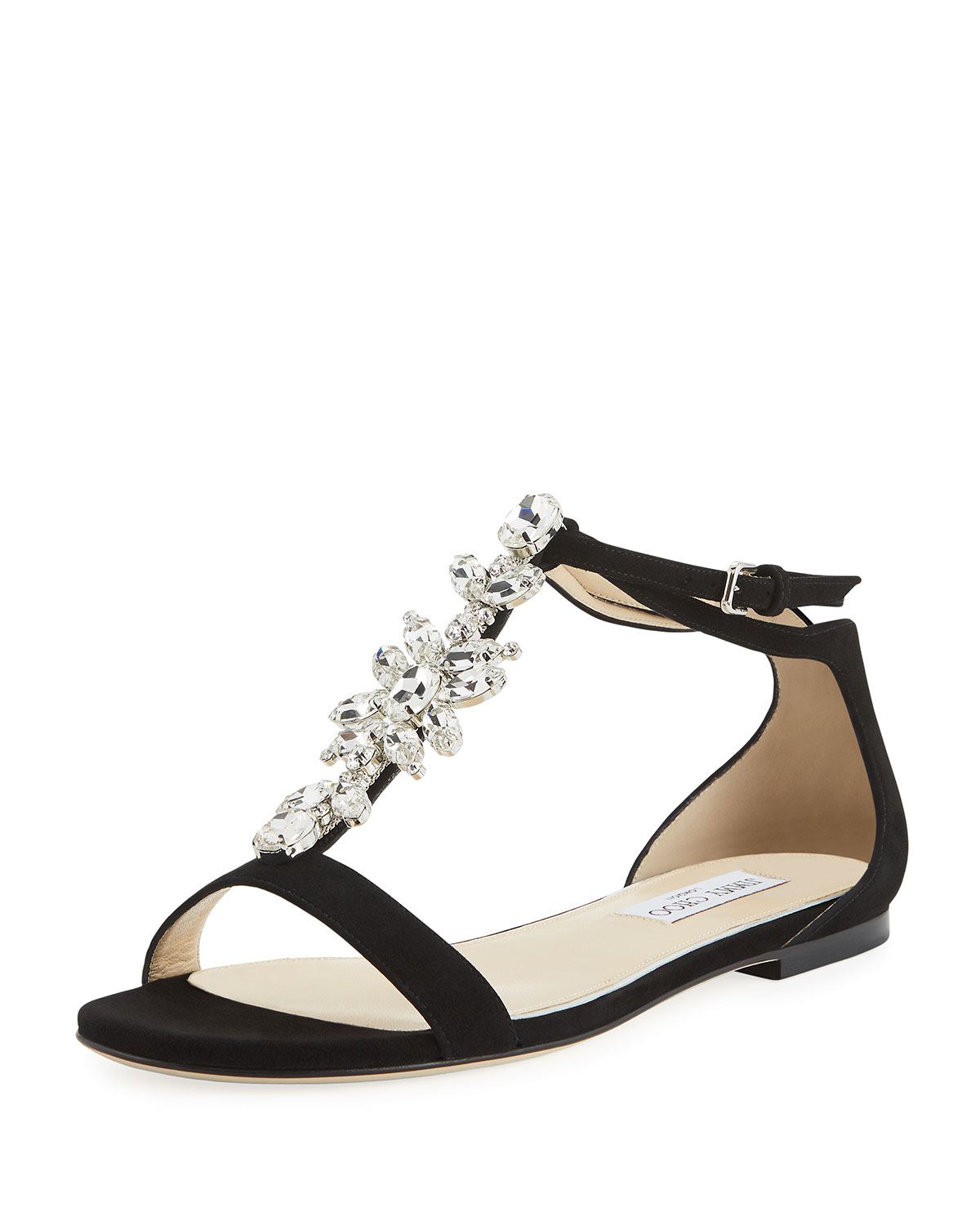 Naia flat sandals with crystal bucklesJimmy Choo London 2VIFyw9a