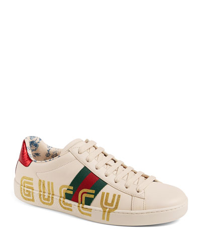 New Ace Guccy Leather Sneaker