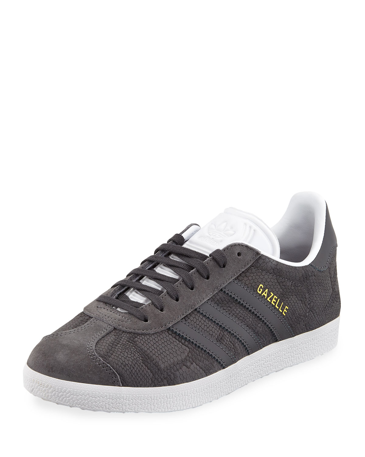 low priced b56bc 62f10 Gazelle Leather Lace-Up Sneakers