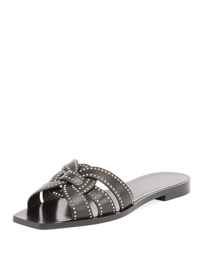 Studded Flat Tribute Slide Sandal